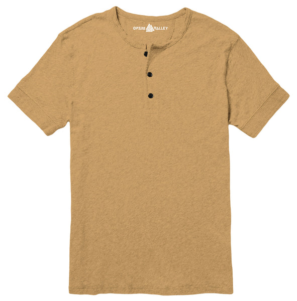 Camel brown - Henley T-Shirt - Opium Valley