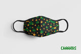 Designer Face Mask (3-layer with filter pocket): CANNABIS