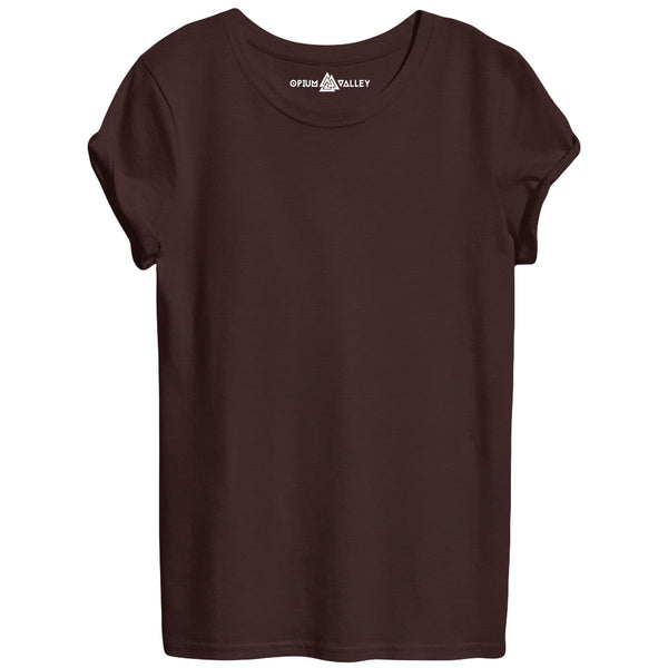 Coffee - Round Neck T-Shirt For Women - Opium Valley