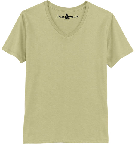 Cream - V-neck T-Shirt - Opium Valley