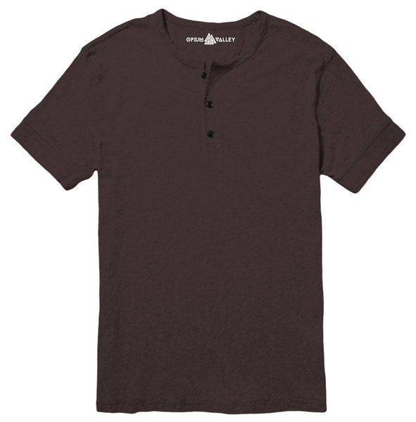 Dark Chocolate - Henley T-Shirt - Opium Valley