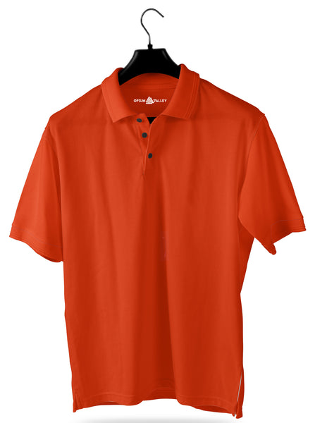 Dark Orange- Polo T-shirt - Opium Valley