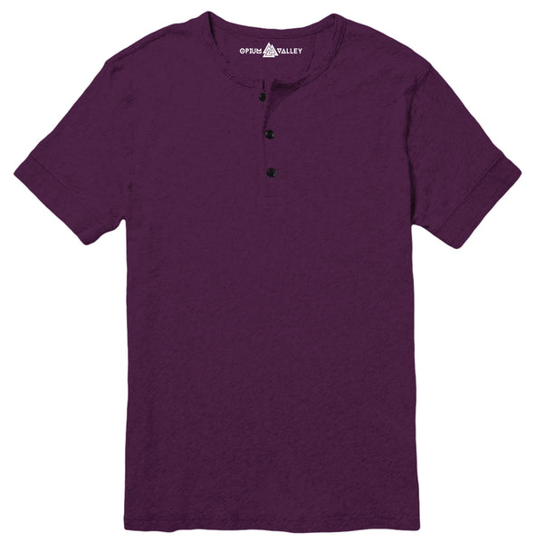 Deep Purple - Henley T-Shirt - Opium Valley