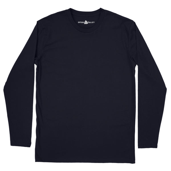Navy Blue - Full Sleeve T-Shirt - Opium Valley