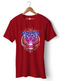 Galactic Lion - Round Neck T-Shirt - Opium Valley