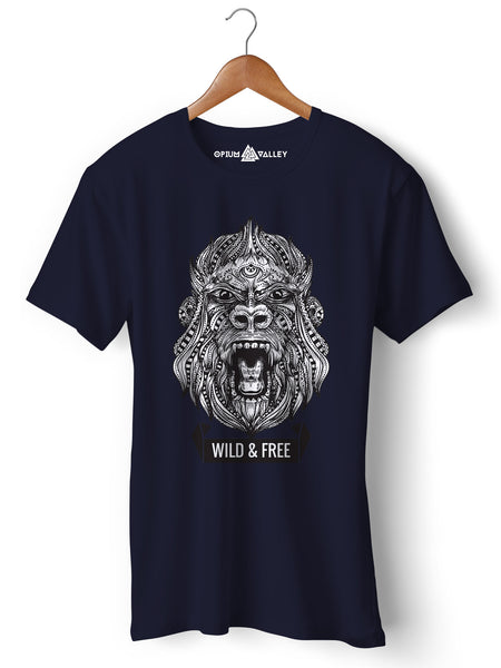 Wild & Free - Round Neck T-Shirt - Opium Valley