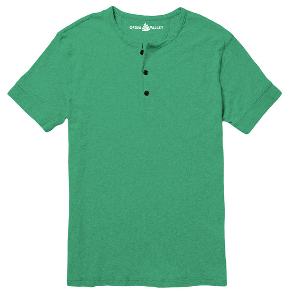 Stump Green - Henley T-Shirt - Opium Valley