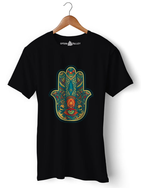 Hamsa - Round Neck T-Shirt - Opium Valley