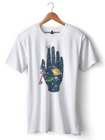 Key To Universe - Round Neck T-Shirt - Opium Valley