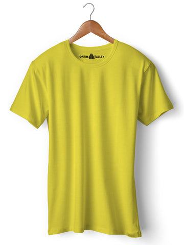 Lemon Yellow - Round Neck T-Shirt