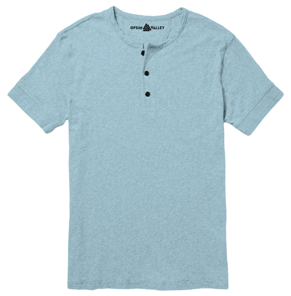 Light Blue - Henley T-Shirt - Opium Valley