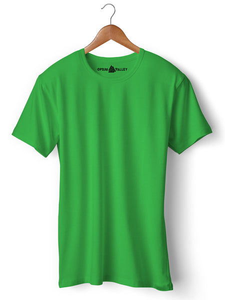 Light Green - Round Neck T-Shirt - Opium Valley