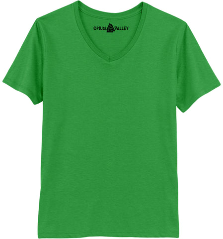 Light Green - V-neck T-Shirt - Opium Valley