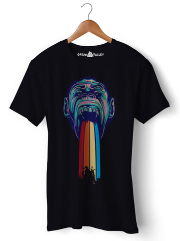 Monkey Rain - Round Neck T-Shirt - Opium Valley