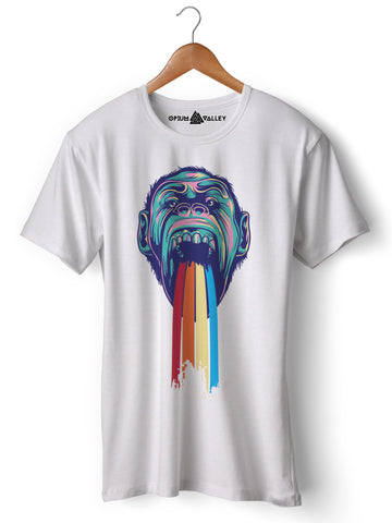 Monkeyrain - Round Neck T-Shirt