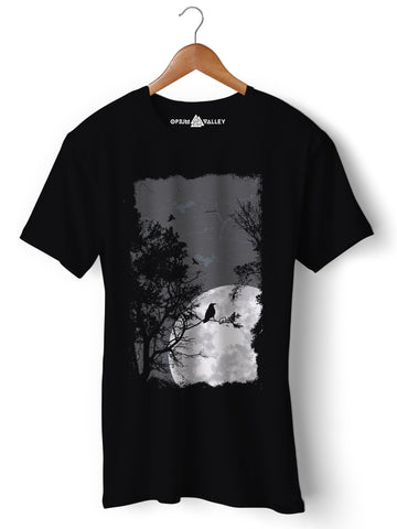 Moon - Round Neck T-Shirt - Opium Valley