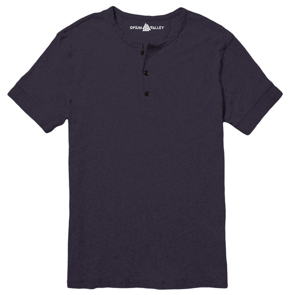 Navy Blue - Henley T-Shirt - Opium Valley