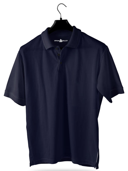 Navy Blue- Polo T-shirt - Opium Valley