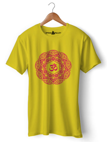 Mandala Om - Round Neck T-Shirt - Opium Valley
