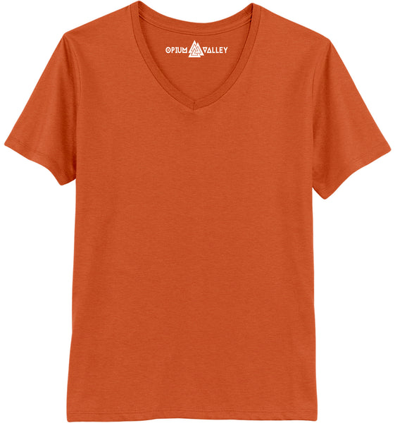 Orange - V-neck T-Shirt - Opium Valley