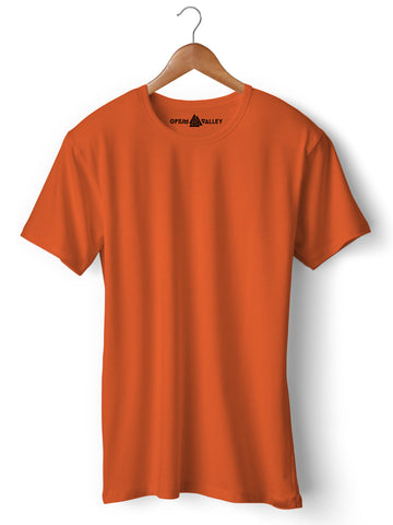 Orange - Round Neck T-Shirt - Opium Valley