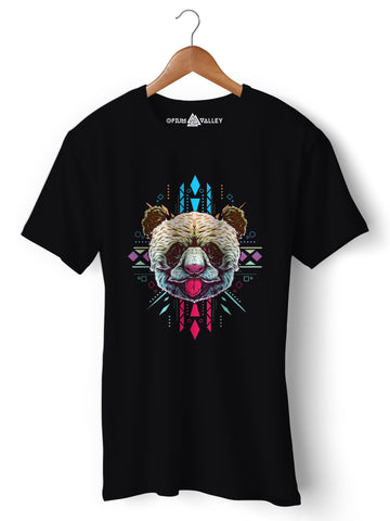 Sacred Panda - Round Neck T-Shirt - Opium Valley