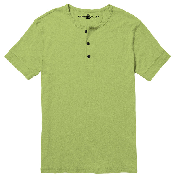 Parrot Green - Henley T-Shirt - Opium Valley