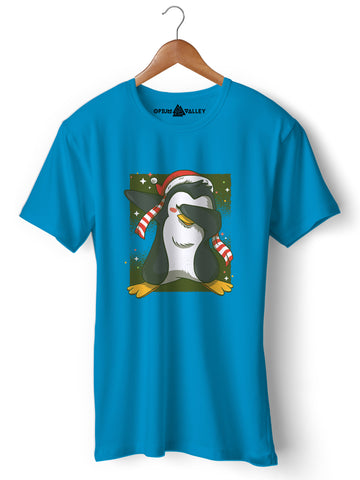 Dab Penguin - Round Neck T-Shirt - Opium Valley