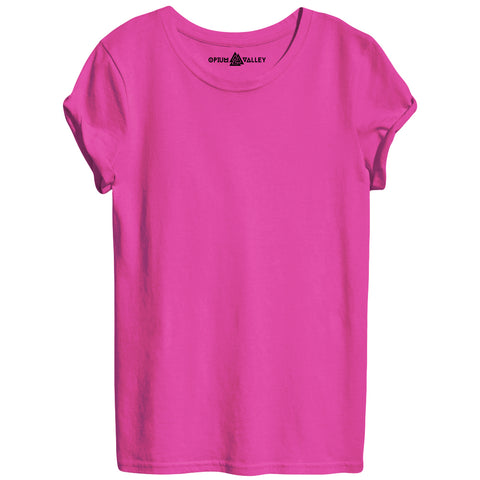 Pink - Round Neck T-Shirt For Women - Opium Valley