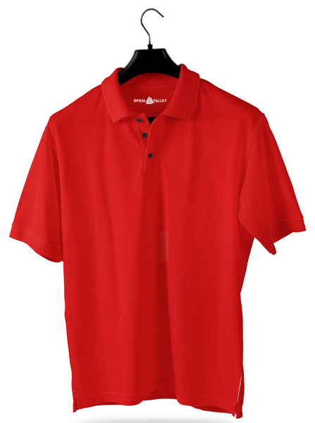 Red- Polo T-shirt - Opium Valley
