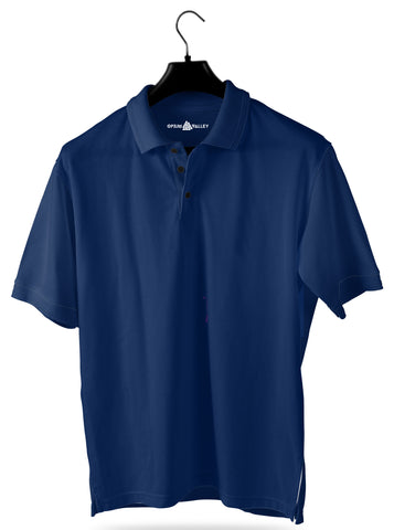 Royal Blue- Polo T-shirt - Opium Valley