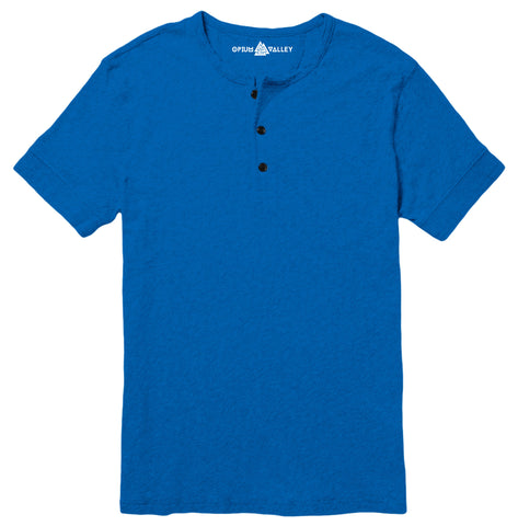 Royal Blue - Henley T-Shirt - Opium Valley