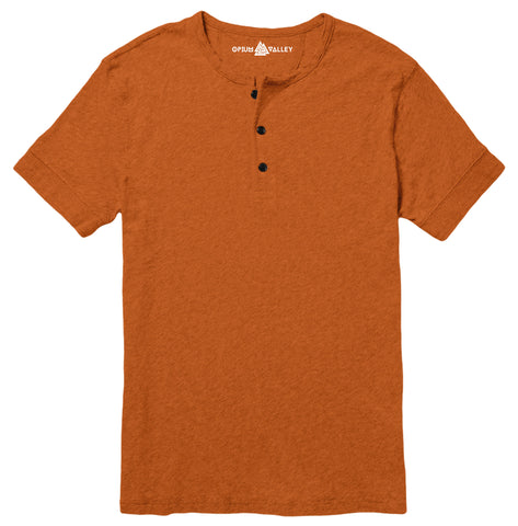 Rust - Henley T-Shirt - Opium Valley
