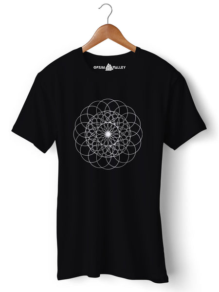 Sacred Geometry - Round Neck T-Shirt - Opium Valley
