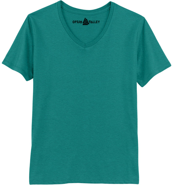 Sea Green - V-neck T-Shirt - Opium Valley