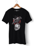 Skull Crow - Round Neck T-Shirt - Opium Valley