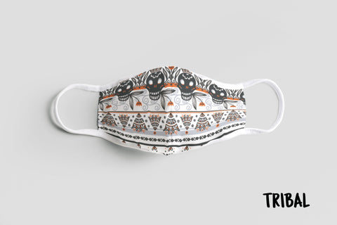 Designer Face Mask (3-layer with filter pocket): TRIBAL