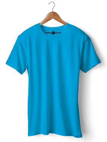 Turquoise Blue - Round Neck T-Shirt - Opium Valley