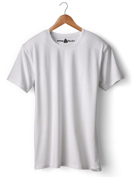 White - Round Neck T-Shirt - Opium Valley