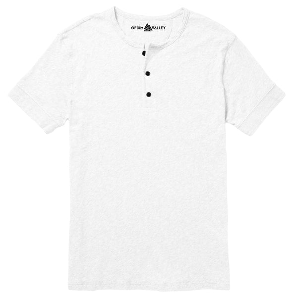 White - Henley T-Shirt - Opium Valley