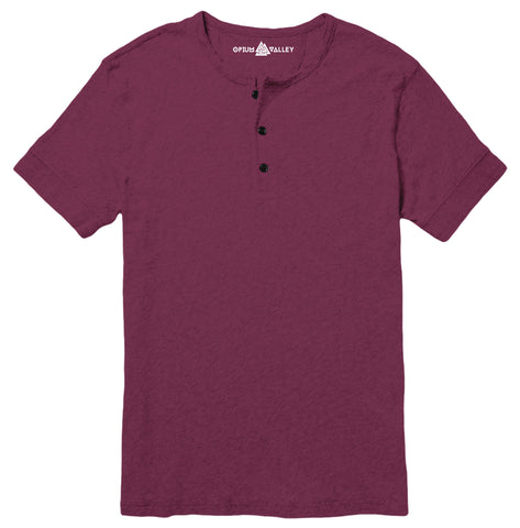 Wine - Henley T-Shirt - Opium Valley