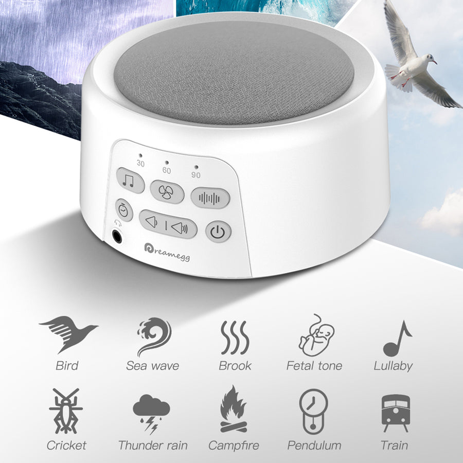 Dreamegg D3 Rechargeable Sound Machine-White