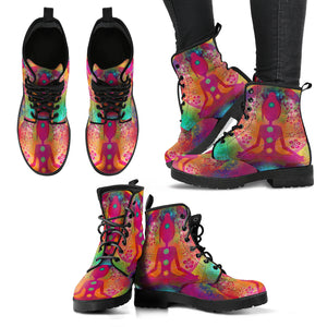 Colorful Spiritual Women's Leather Boots
