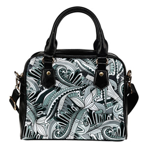 Funky Patterns in Blacks - Shoulder Bag