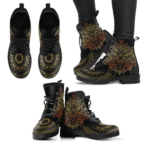 Gold Lotus Women's Leather Boots