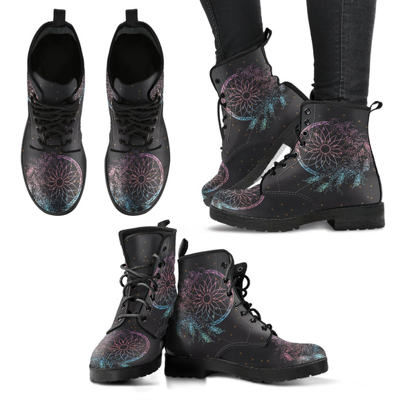 Stars Dream Catcher Women's Leather Boots