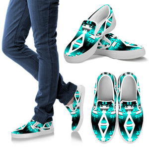 Teal Winter Camp SopoWomen's Slip Ons