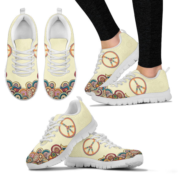 Colorful Peace Handcrafted Sneakers