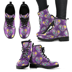 Mermaid at Heart - Women's Leather Boots