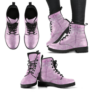 Dragonfly Mandala Women's Leather Boots